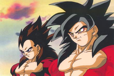 Goku y Vegeta Convertido en Sayayin 4